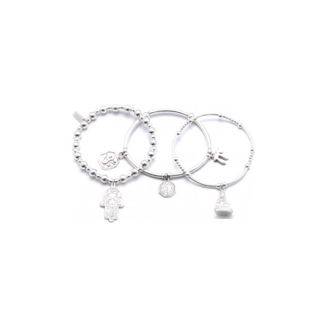 ChloBo Jewellery Set of 3 Karma Bracelets - SBSTA3K
