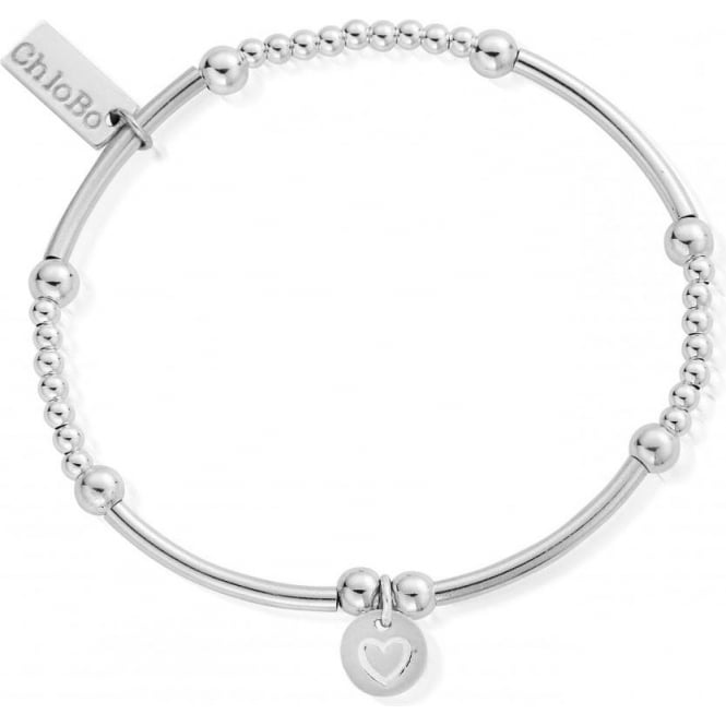 ChloBo Jewellery Cute Mini Heart in Circle Bracelet - SBCM009