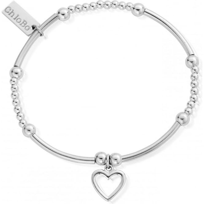 ChloBo Jewellery Cute Mini Open Heart Bracelet - SBCM007