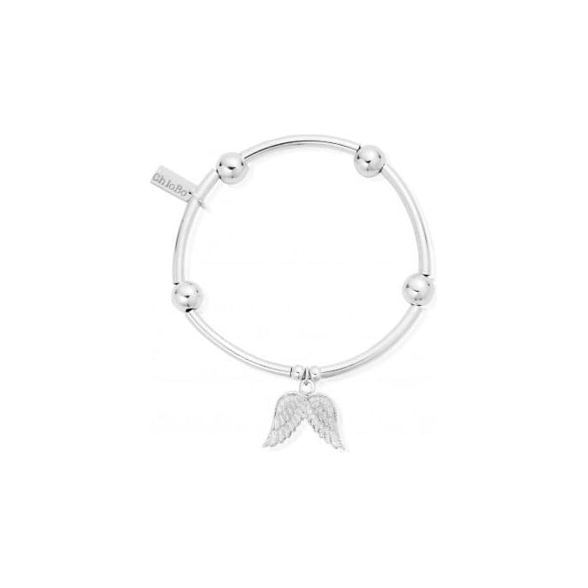 ChloBo Jewellery Noodle Ball Double Angel Wing Bracelet - SBNB702