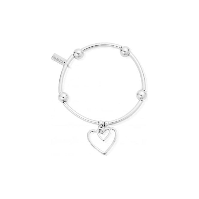 ChloBo Jewellery Noodle Ball Double Open Heart Bracelet - SBNB007028