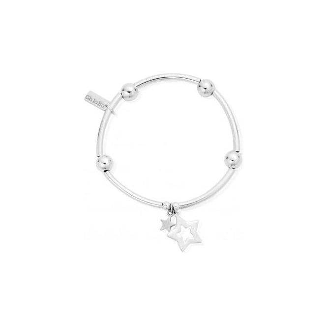 ChloBo Jewellery Noodle Ball Double Star Bracelet - SBNB806812
