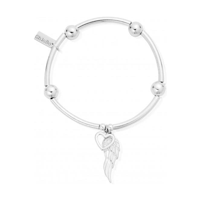 ChloBo Jewellery Noodle Ball Open Heart & Angel Wing Bracelet - SBNB007703