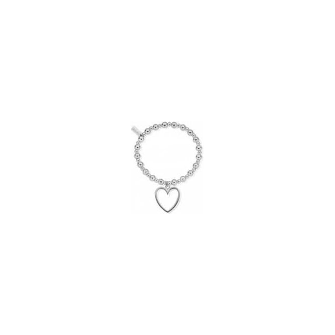 ChloBo Jewellery Mini Small Ball Open Heart Bracelet - SBMSB019024