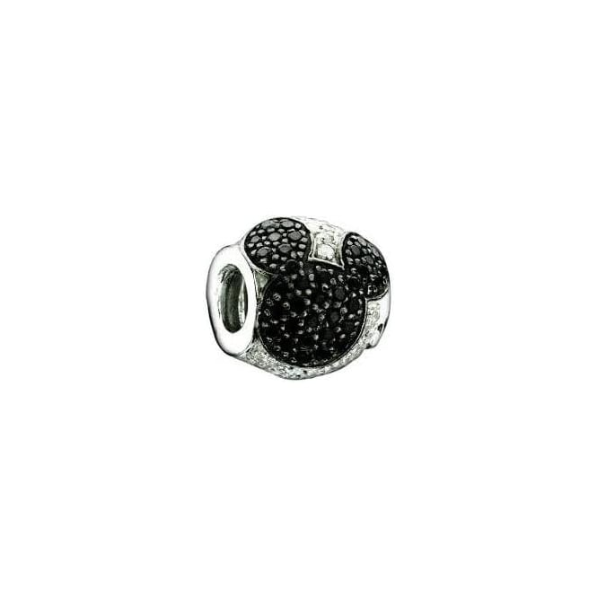 Chamilia Jewelled Mickey Black and Clear Charm 2025-0677