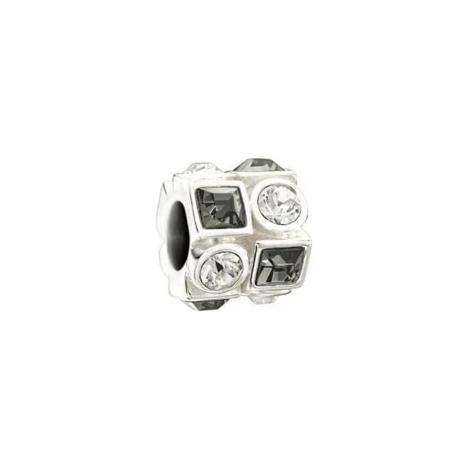Chamilia Circle & Square Black & White Charm 2083-0403