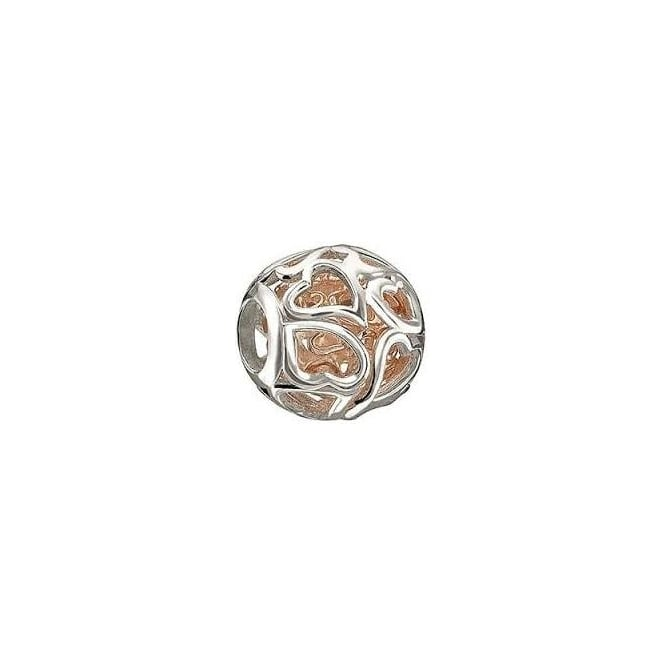 Chamilia Captured Hearts Rose Gold Charm 2010-3092