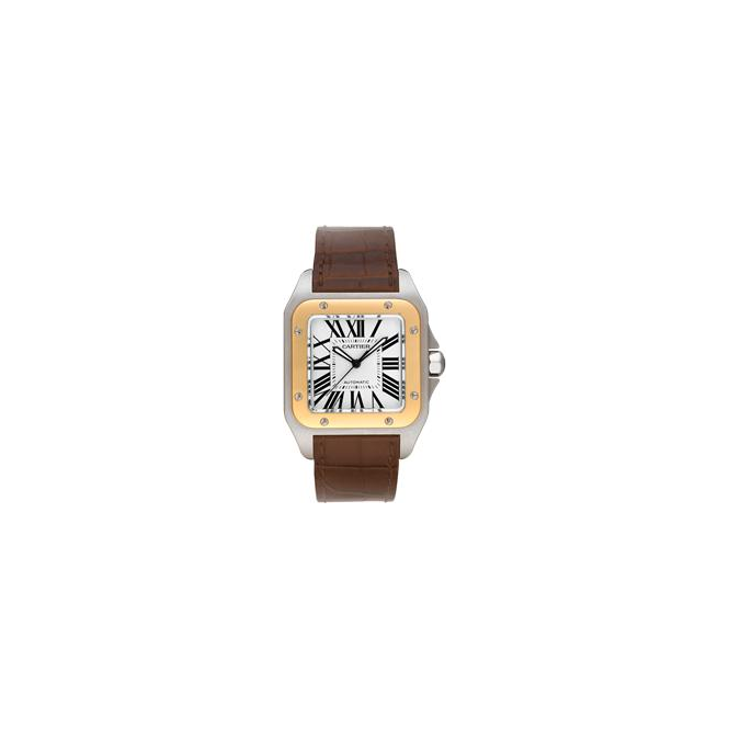 Cartier Mens Santos 100 Watch, Large Model - W20072X7