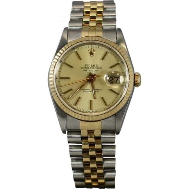 Pre-Owned Rolex Men's Bi Metal Oyster Perpetual Datejust