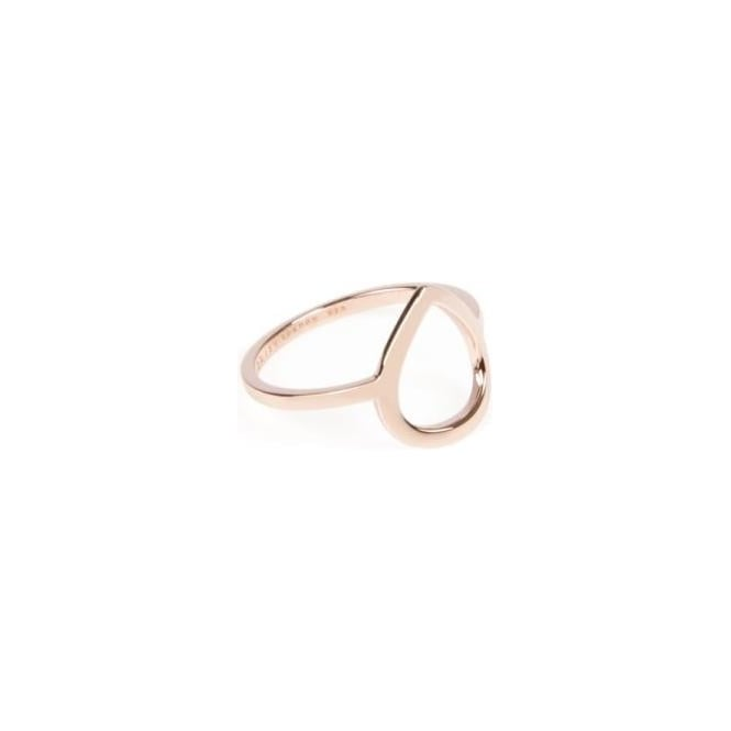 Daisy London Laura Whitmore Cut Out Plectrum Rose Gold Ring - LWSR24