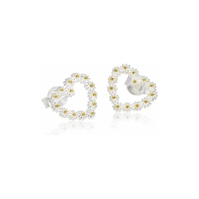 Daisy London 11mm Iota Heart Stud earrings - E6001