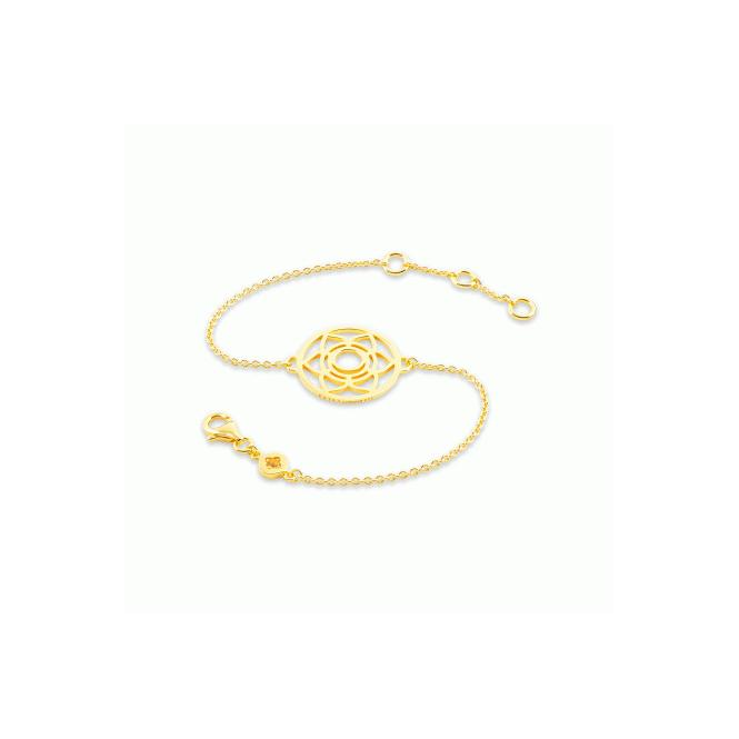 Daisy London Sacral Chakra Gold Chain Bracelet  - CHKBR1002