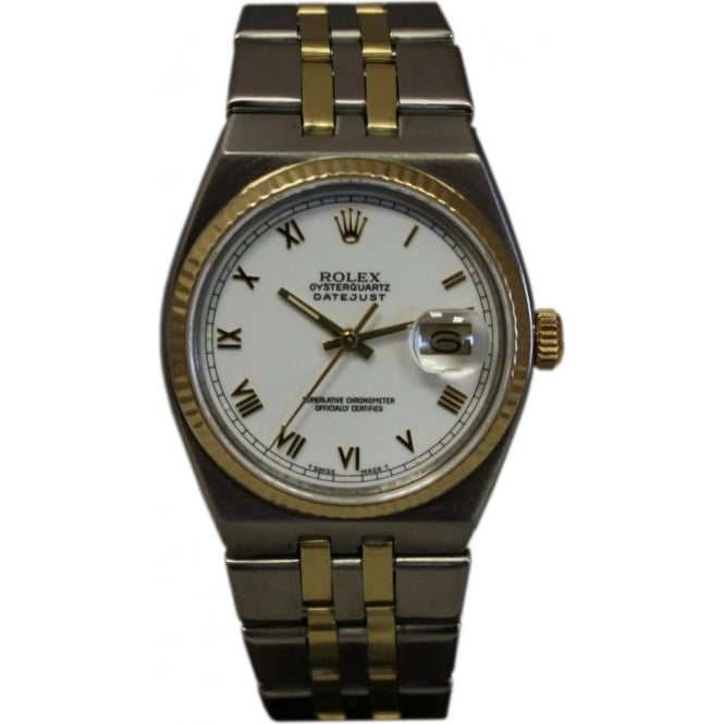 Pre-Owned Rolex Men's OysterQuartz DateJust Watch.