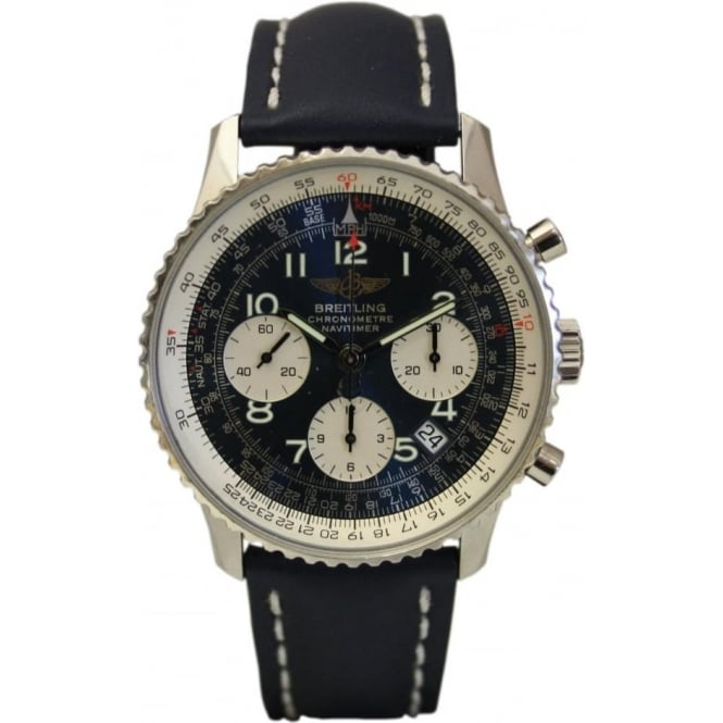 Pre-Owned Breitling Men's Stainless Steel Navitimer Watch.