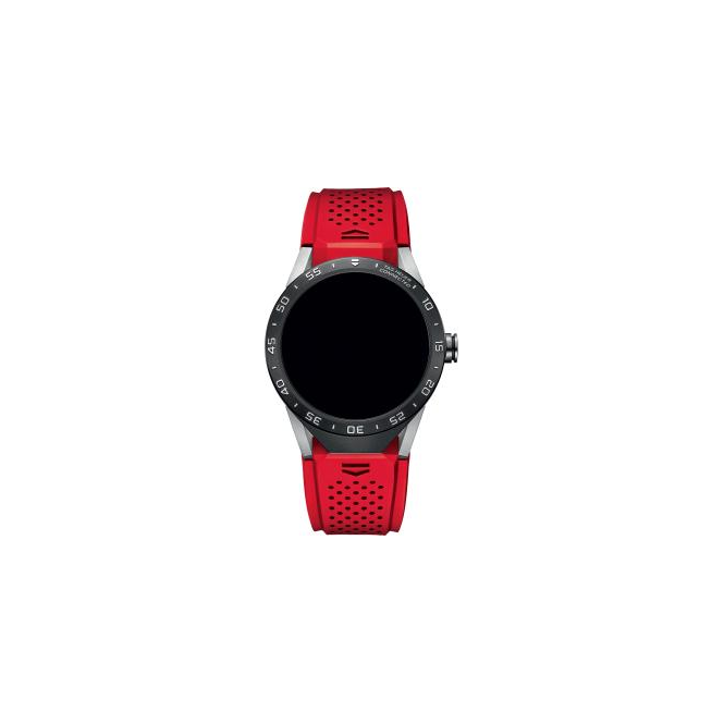Tag Heuer Connected Red Strap Watch. SAR8A80.FT6057