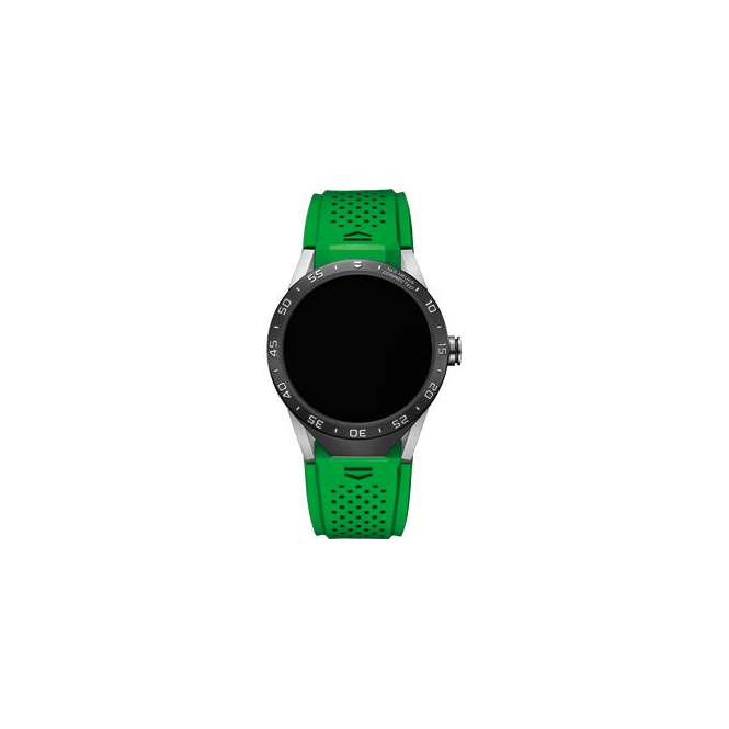 Tag Heuer Connected Green Strap Watch. SAR8A80.FT6059