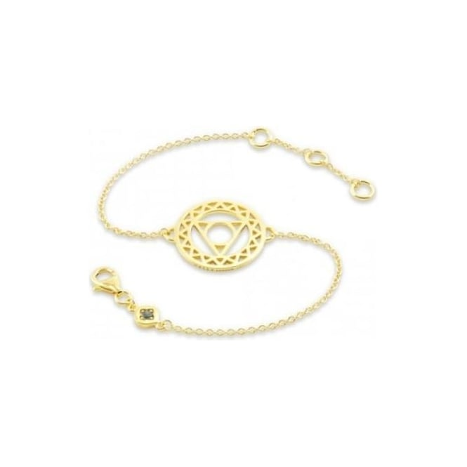 Daisy London Gold Throat Chakra Chain Bracelet - CHKBR1005