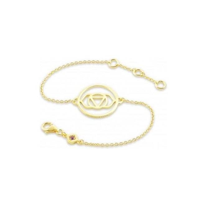Daisy London Gold Brow Chakra Chain Bracelet - CHKBR1005