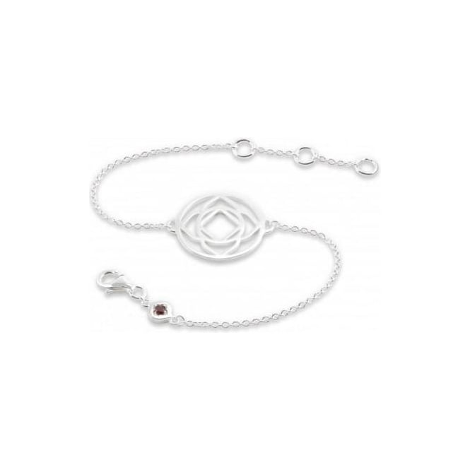 Daisy London Silver Base Chakra Chain Bracelet - CHKBR1008