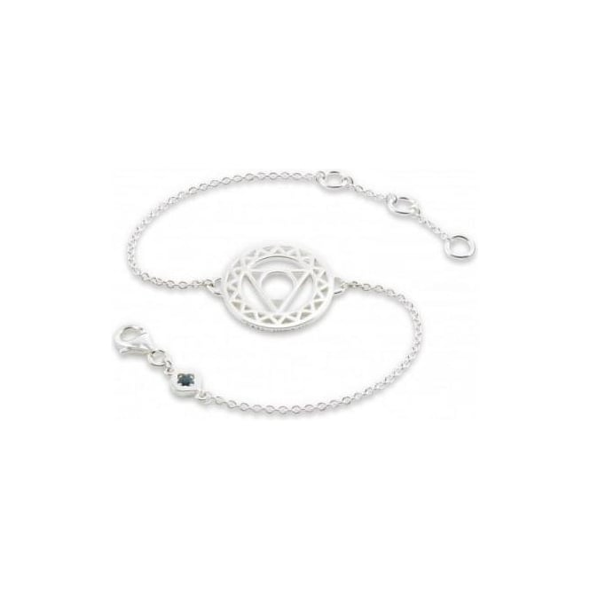Daisy London Silver Throat Chakra Chain - CHKBR1012