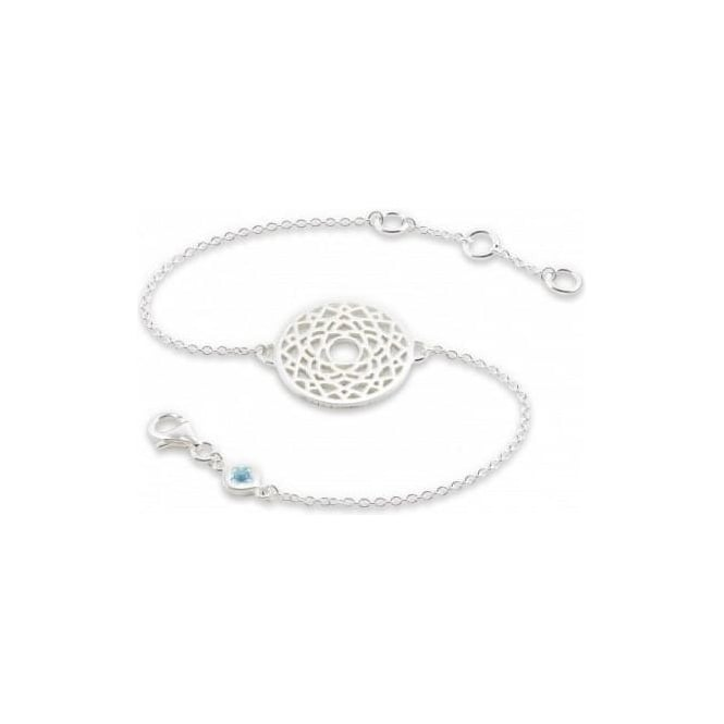 Daisy London Silver Crown Chakra Chain Bracelet - CHKBR1014