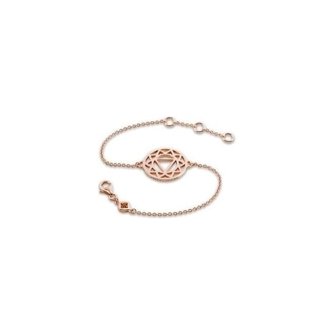 Daisy London Rose Gold Solar Plexus Chakra Chain Bracelet - CHKBR1017