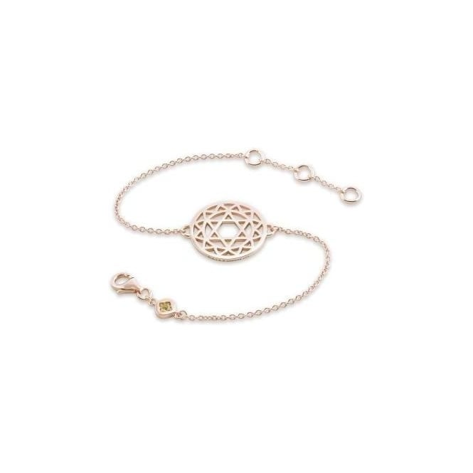 Daisy London Rose Gold Heart Chakra Chain Bracelet - CHKBR1018
