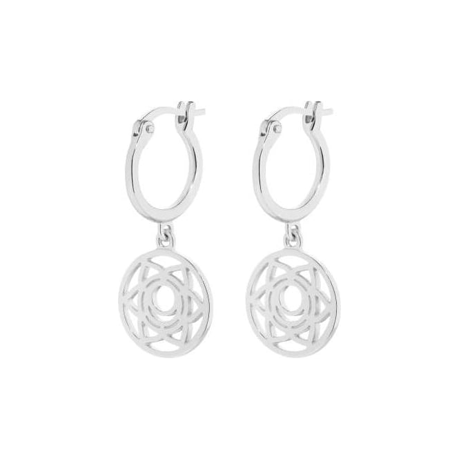Daisy London Silver Sacral Chakra Earrings - ECHK1002