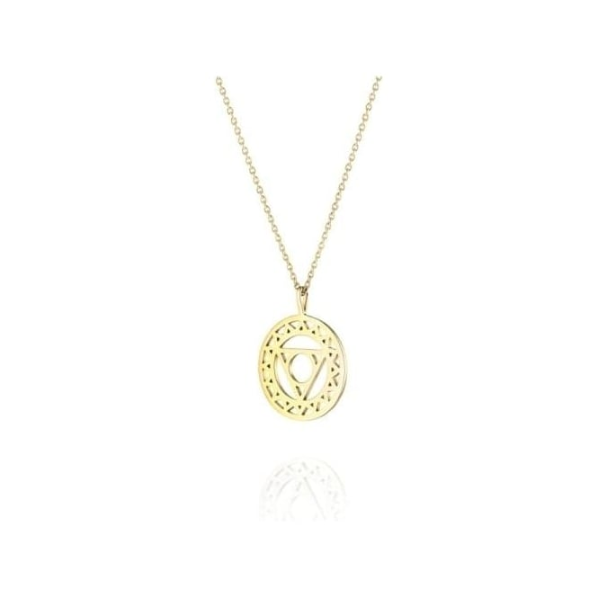 Daisy London Throat Chakra Short Gold Necklace