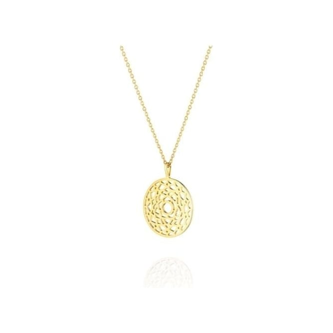Daisy London Crown Chakra Short Gold Necklace