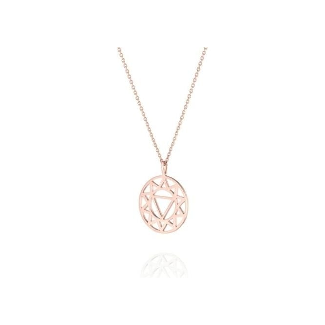 Daisy London Solar Plexus Chakra Short Rose Gold Necklace