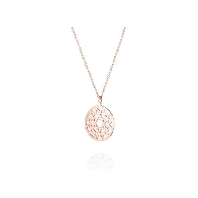 Daisy London Heart Chakra Short Rose Gold Necklace