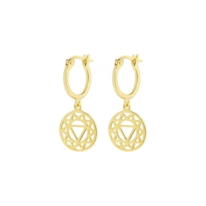 Daisy London Gold Solar Plexus Chakra Drop Earrings - ECHK2003