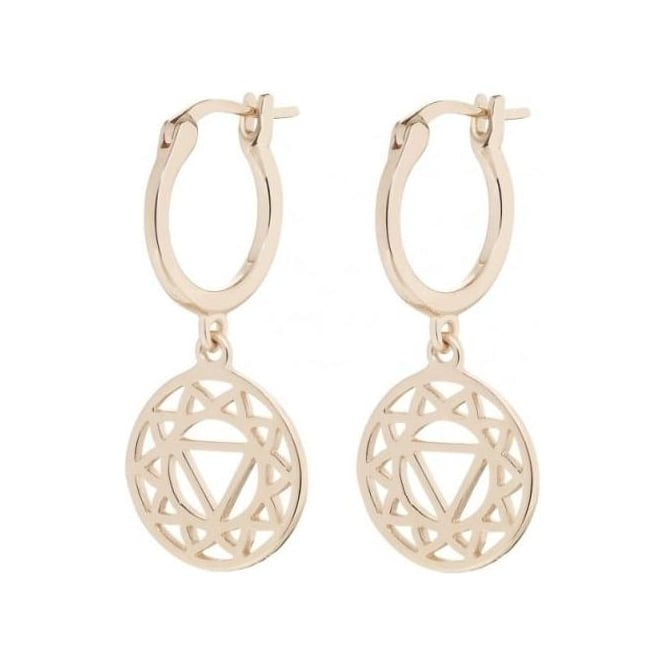 Daisy London Rose Gold Solar Plexus Chakra Drop earrings - ECHK3003