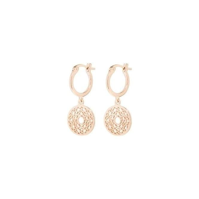 Daisy London Rose Gold Solar Plexus Chakra Drop earrings - ECHK3007