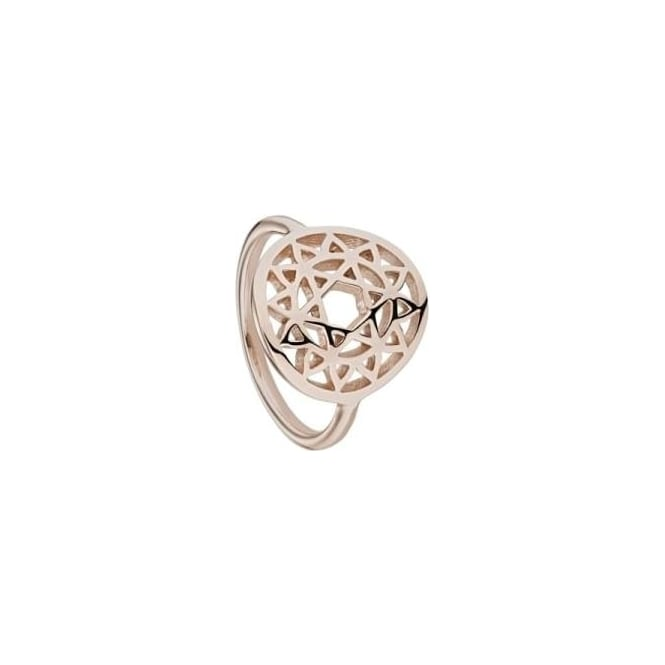 Daisy London Heart Chakra Rose Gold Ring Medium