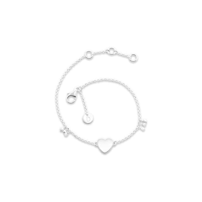 Daisy London Little Heart Good Karma Silver Chain Bralelet