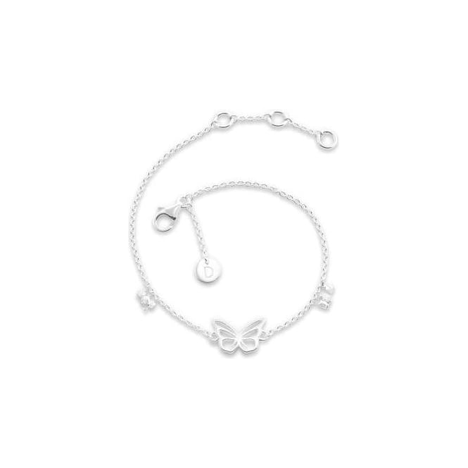Daisy London Butterfly Good Karma Silver Chain Bracelet