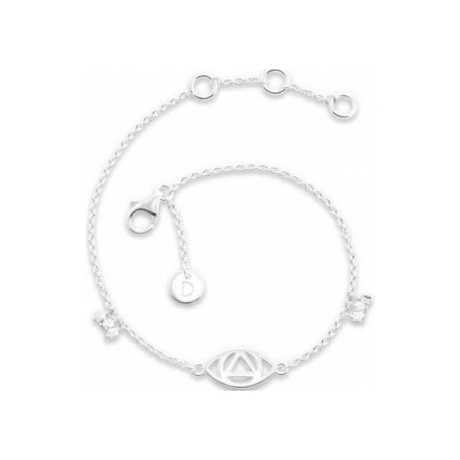 Daisy London Silver Evil Eye Good Karma Bracelet