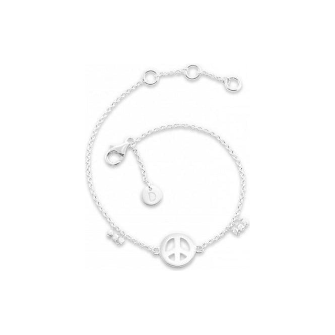 Daisy London Silver Good Karma Peace Bracelet