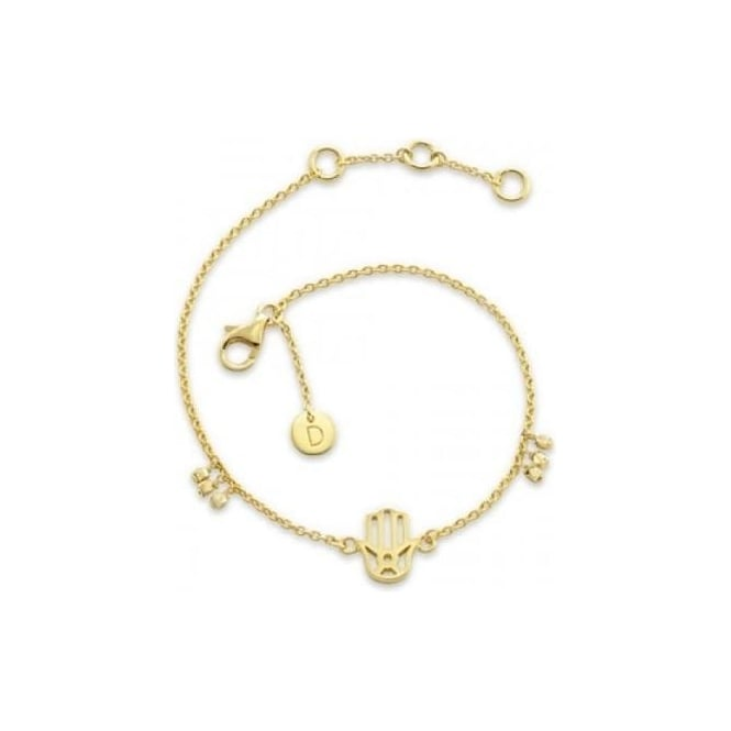 Daisy London Gold Hand of Fatima Good Karma Chain Bracelet