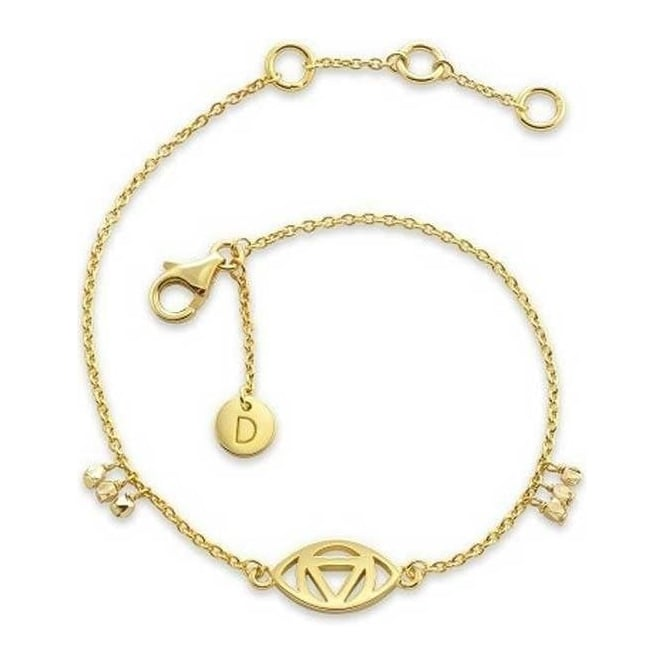 Daisy London Gold Plated Good Karma Evil Eye Bracelet