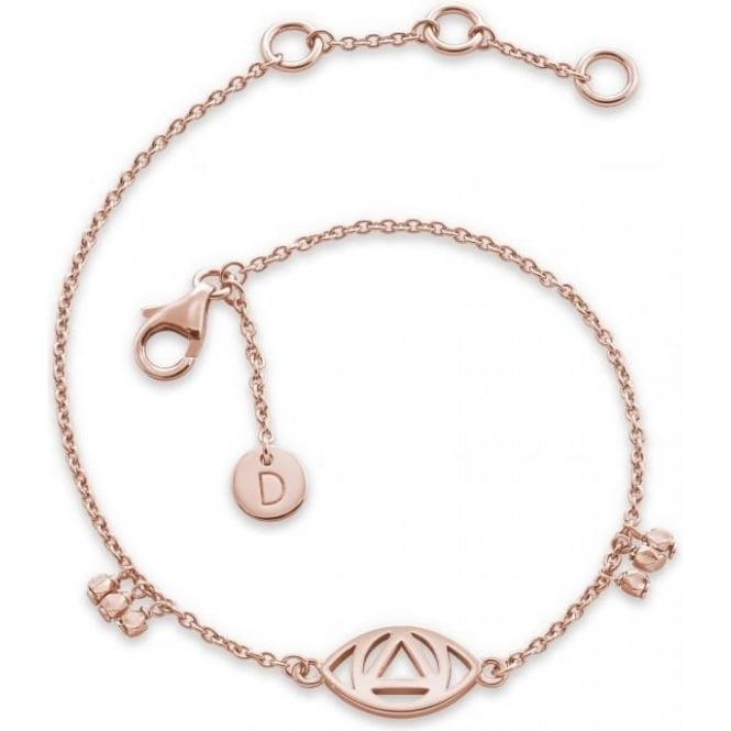 Daisy London Evil Eye Good Karma Rose Gold