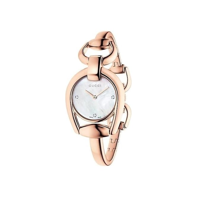 Gucci Timepieces Ladies Horsebit Diamond Watch - YA139508