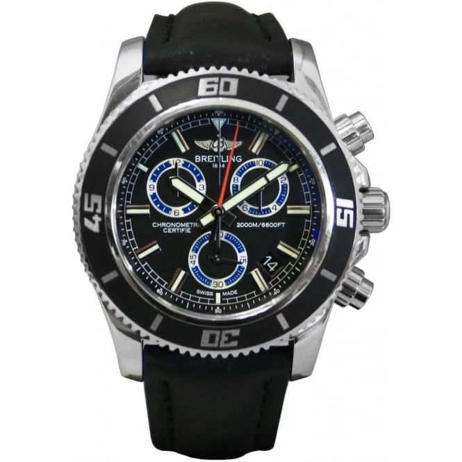 Pre-Owned Breitling Men's SuperOcean Dive Chronograph Watch.