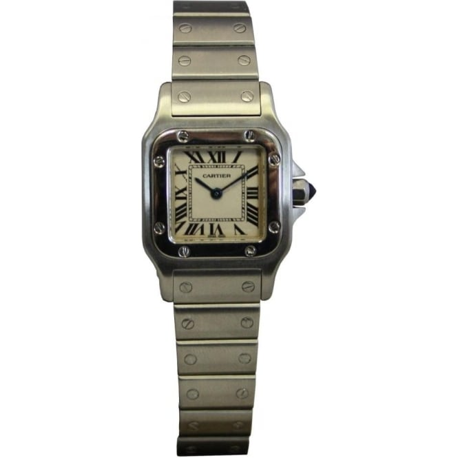 Pre-Owned Cartier Ladies Stainless Steel Santos