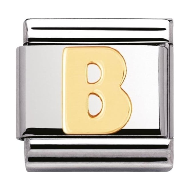 Nomination Classic Gold Letter B Charm - 03010102