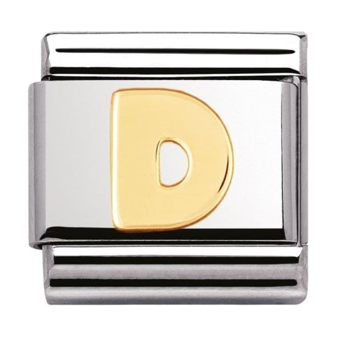 Nomination Classic Gold Letter D Charm - 03010104