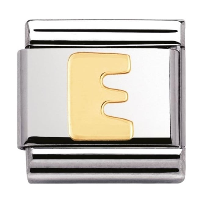 Nomination Classic Gold Letter E Charm - 03010105