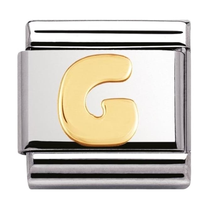 Nomination Classic Gold Letter G Charm - 03010107